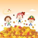 Autumn Kids Stock Image