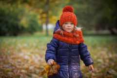 Autumn kids Royalty Free Stock Photography