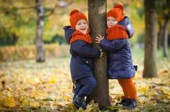 Autumn kids Royalty Free Stock Image