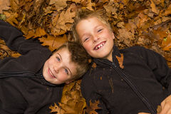 Autumn kids Royalty Free Stock Photo