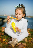 Autumn kids portrait royalty free stock photos