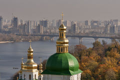 Autumn Kiev cityscape Stock Photography