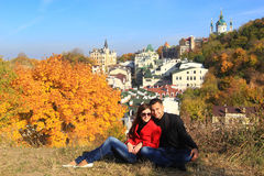 Autumn in Kiev - Indian summer Royalty Free Stock Photography