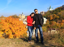 Autumn in Kiev - Indian summer Stock Image