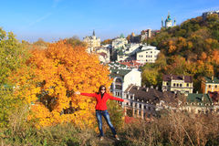 Autumn in Kiev - Indian summer Royalty Free Stock Photos