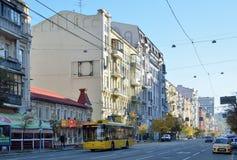 Autumn Kiev street Stock Images