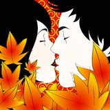 Autumn kiss Royalty Free Stock Image