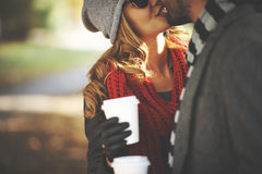 Autumn kiss Royalty Free Stock Photography