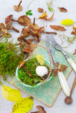 On the autumn kitchen table Royalty Free Stock Photography