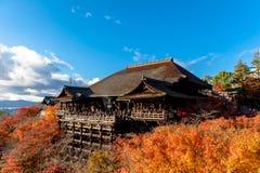 Autumn Kiyomizu Temple, Kyoto, Japan, Stock Image