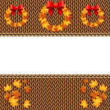 Autumn knitted warm background with space for text Stock Image