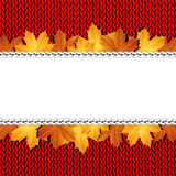 Autumn knitted warm background with space for text Stock Photography