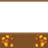 Autumn knitted warm background with space for text Royalty Free Stock Photos