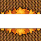 Autumn knitted warm background with space for text. Vector illustration Stock Images