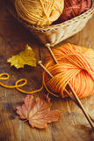 Autumn Knitting fotografia de stock