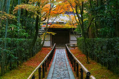 Autumn at Koto-in a Sub Temple of Daitokuji Temple in Kyoto Royalty Free Stock Images