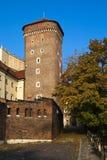 Autumn in Krakow. Wawel watchtower. Poland. Krakow Stock Photo
