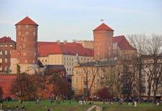 Autumn in Krakow, Poland - Royal Castle Stock Image