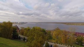Autumn Kremlin Nizhny Novgorod Russia stock footage
