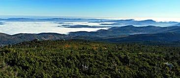 Autumn Krkonose mountains panorama Stock Images