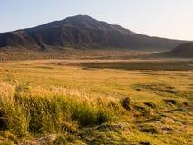 Autumn at Kusasenri Plateau inside Aso volcanic caldera. Aso-Kuju National Park, Kumamoto prefecture stock image