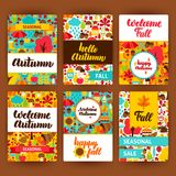 Autumn Label Set Fotografie Stock