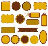 Autumn labels Stock Photo