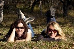 Autumn ladies royalty free stock images