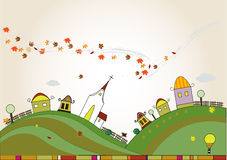 Autumn ladscape background Royalty Free Stock Images