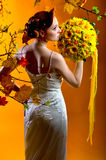 Autumn lady Royalty Free Stock Images