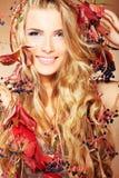 Autumn lady royalty free stock image