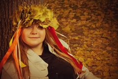 Autumn lady Stock Photos