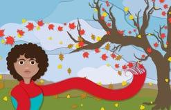 Autumn Lady nella vista del ritratto Immagine Stock