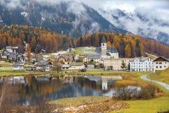Autumn of Lai da Tarasp Royalty Free Stock Photography