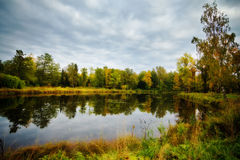Autumn on a lake Royalty Free Stock Photography