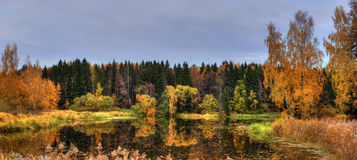 Autumn Lake stock photography