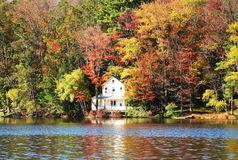 Autumn in Lake Royalty Free Stock Images