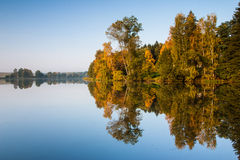 On the autumn lake Royalty Free Stock Photos