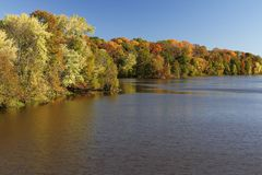 Autumn Lake. Showing Fall Foliage Royalty Free Stock Images