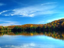 Autumn lake. Philippe lake in Gatineau Park, Hull, Canada Stock Photos