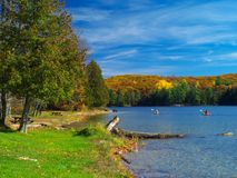 Autumn lake. Philippe lake in Gatineau Park, Hull, Canada Royalty Free Stock Images
