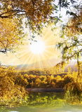 Autumn on lake Royalty Free Stock Images
