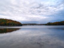Autumn lake. Meech lake in Gatineau Park, Hull, Canada Stock Photography