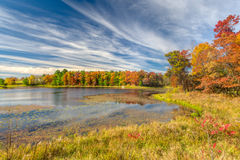 Autumn Lake in the American Midwest Stock Photography