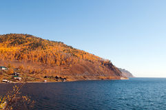 Autumn at Lake Baikal Stock Image