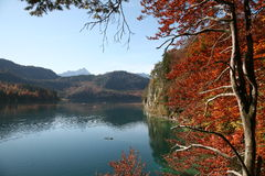 Autumn lake in Bavaria Stock Images