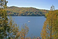 Autumn on Lake Chatuge Royalty Free Stock Images