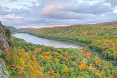 Autumn, Lake of the Clouds Royalty Free Stock Photography