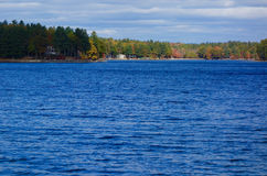 Autumn lake with colorful trees landscape Royalty Free Stock Photos