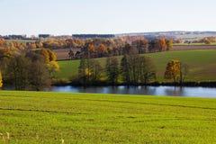 Autumn lake. In Czech Republic stock photos